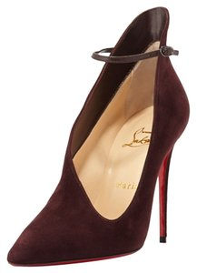 Christian Louboutin Red New Unused Burgundy Pumps