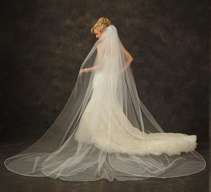 J.L. Johnson Bridals Custom Made Cathedral Length Petal Veil