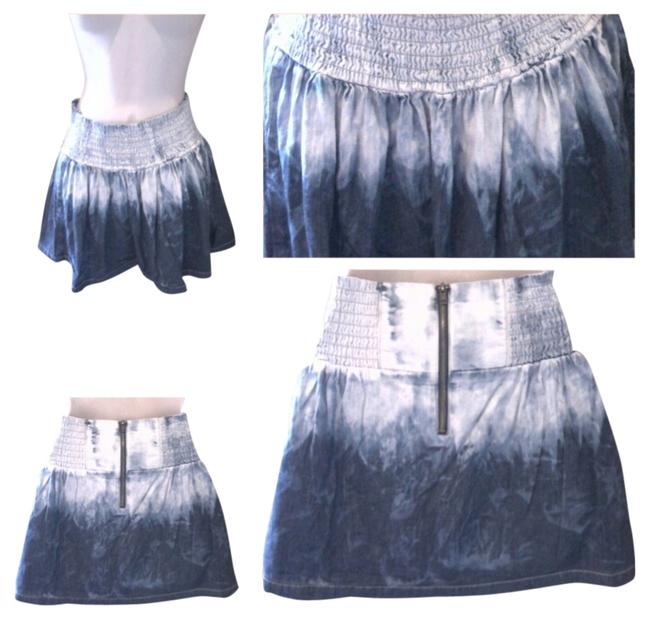 Dollhouse Short Bluejeans Distressed Cheap Mini Skirt DENIM
