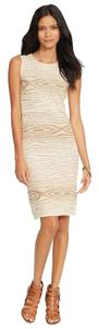 Ralph Lauren short dress Tan Cotton Bodycon on Tradesy