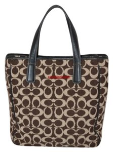 Coach Knit Tote in Brown