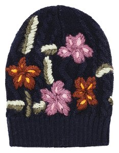 Zara Hand Embroidered Knit Hat