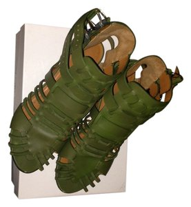 Givenchy Gladiator Green Sandals