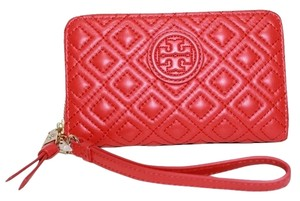 Tory Burch NEW!!! Tags Tory Burch Marion Quilted Leather Phone RED Wristlet Wallet NWT!