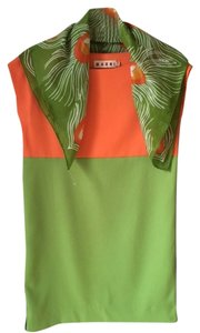 Marni short dress Orange/green Green Orange on Tradesy