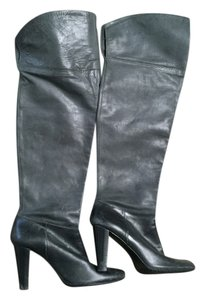 Calvin Klein Over The Knee Designer Gray Boots
