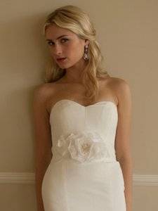 Luxurious Handmade Silk Flower Bridal Sash