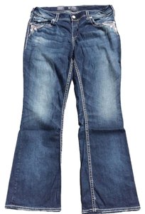 Silver Jeans Co. Suki Pants Plus Boot Cut Jeans-Medium Wash
