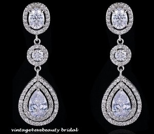 Gorgeous Luxury Wedding Tear Drop Earrings