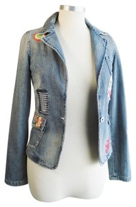 8456acc5e50 Miss Me Blue Jean Embroidered 'new Orleans' Floral Boho Chic Jacket ...