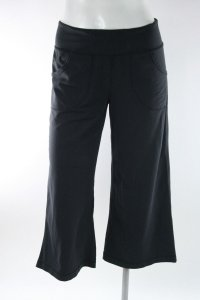 Lululemon Lululemon Black Nylon Spandex Drawstring Waist Cropped Yoga Pants