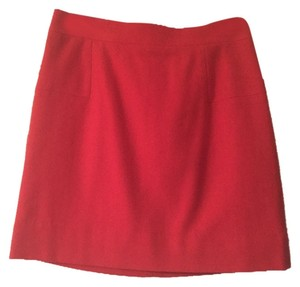 J.Crew Mini Wool Poppy Mini Skirt Red