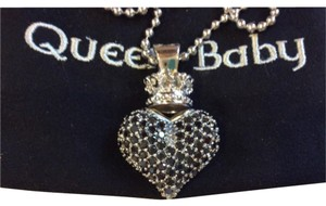 King Baby Crowned Heart Necklace