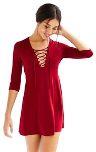 Silence + Noise short dress Red on Tradesy
