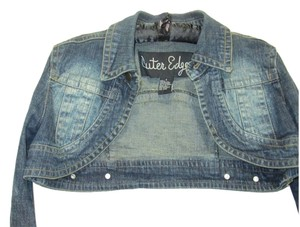 Outer Edge Shrug Denim Womens Jean Jacket