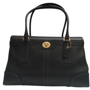 Coach Handcrafted Leather Classic Tote in Black