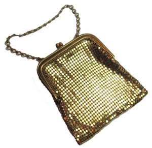 Whiting & Davis Purse Vintage Wristlet in Goldtone