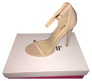 JustFab Nude Pumps