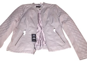 Express Gray Leather Jacket