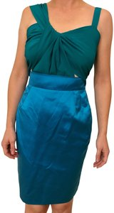 Gucci Satin Teal Runway Silk Dress
