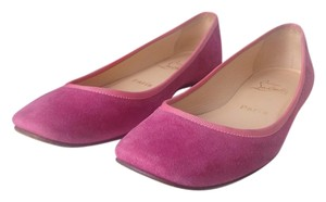 Christian Louboutin Suede Comfy Stylish Purple Flats
