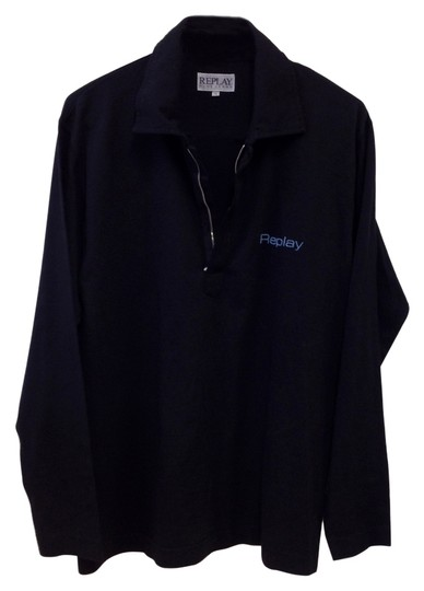 Preload https://img-static.tradesy.com/item/1063695/replay-black-men-s-blue-jeans-long-sleeve-collared-shirt-with-zipper-down-front-0-0-540-540.jpg