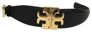 Tory Burch Tory Burch Wide T hinged Bracelet BLACK