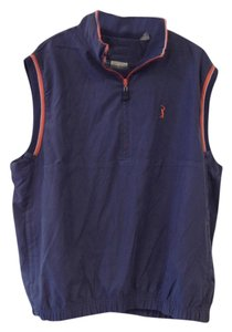 PGA Tour ***MEN'S*** TOUR ORIGINALS BLUE, ORANGE & WHITE ZIPPER DOWN VEST
