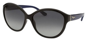 Salvatore Ferragamo New Fashion Women's Round Black Sunglasses