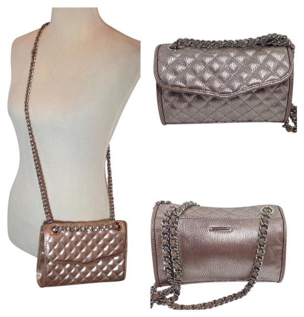 Item - **reserved**rebecca Quilted Mini Affair -- Crackle Metallic Taupe + Silver Leather Shoulder Bag