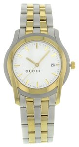 Gucci Gucci 5500 YA055216 Stainless Steel Gold Plated Quartz Men's Watch (7902)
