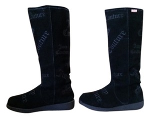 Juicy Couture Suede Black Boots