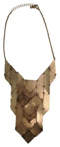 Urban Outfitters Gold Geometric Statement Necklace