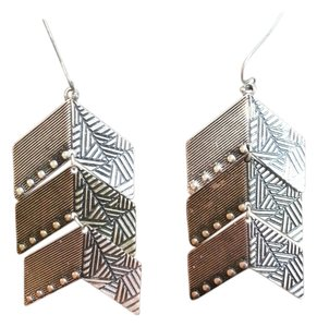 Golden Stella Aztec Tri-Color metal earrings