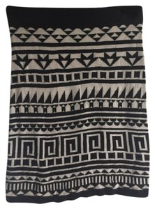 H&M Tribal Mini Knit Mini Skirt Black/Ivory