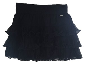 Gilly Hicks Ruffle Mini Mini Skirt Navy Blue