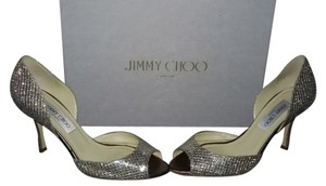 Jimmy Choo Silver Metallic Pumps