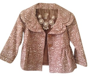 Anthropologie Jacket Cream and Tan Blazer