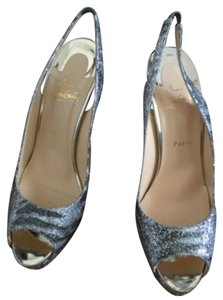 Christian Louboutin SO17 Silver / Light Gold Platforms