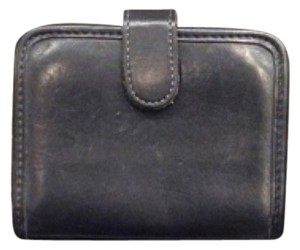 Coach Vintage Coach Black Snap Card Wallet