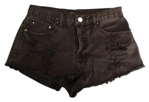 Forever 21 High Waisted Denim Shorts-Dark Rinse
