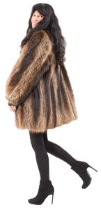 RACCOON FUR COAT Pastel Mink Mink Fur Coat