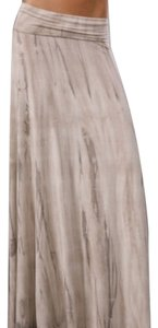 Rachel Pally Designer Boho Chic Bohemian Beach Beachy Long Tube Dress Convertible Maxi Skirt Beige / Grey