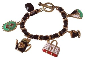 Betsey Johnson Betsey Johnson Purse Charm Bracelet Tea Pot J1832