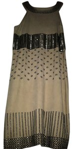 Haute Hippie Suede Studded Detail Embellished Dress
