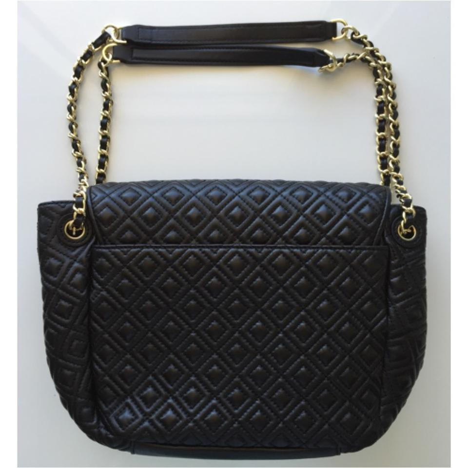 bfb45de94545 Tory Burch Marion New Quilted Small Black Leather Shoulder Bag - Tradesy