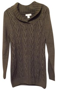 Coldwater Creek Warm Cable Shawl Collar Sweater