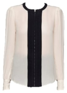 Diane von Furstenberg Professional Classy Work Dvf Elegant Top Cream and Black