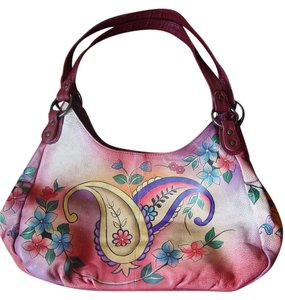 Anuschka Multiple Flowers Shoulder Bag