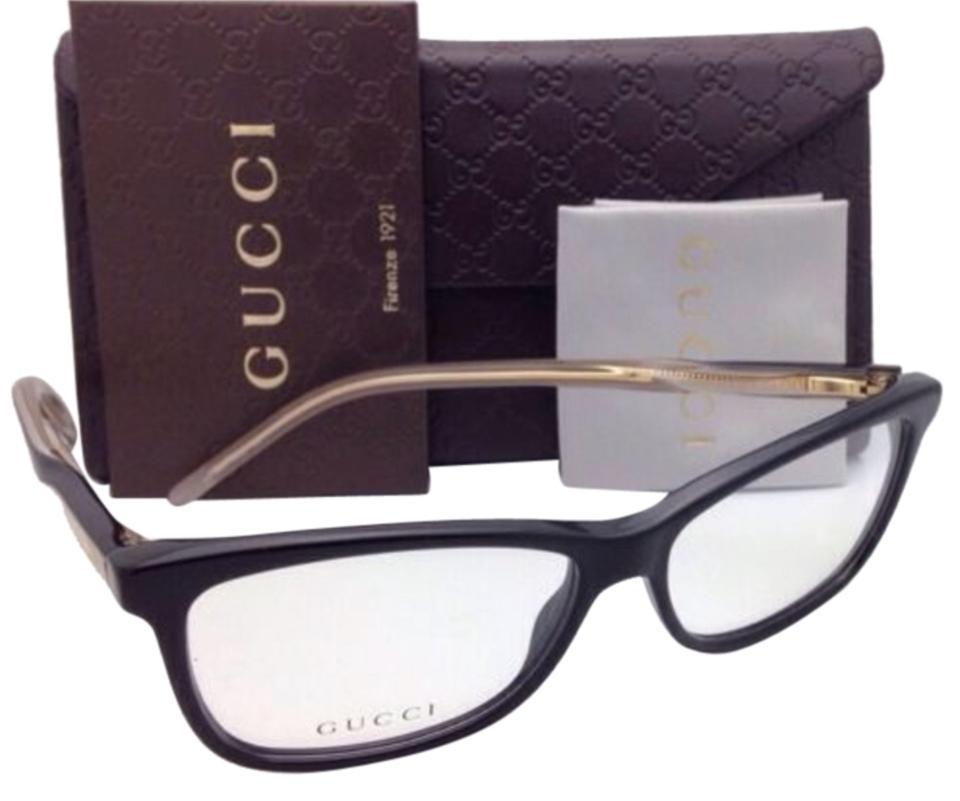2c551667e6 Gucci Gg 3643 0wm Black   Gold   Clear Frame New Eyeglasses 52-14 ...